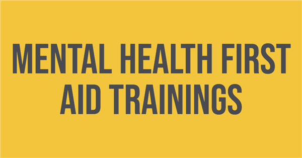 Mental Health First Aid Trainings