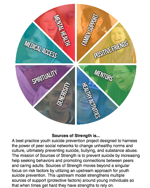 Sources of Strength wheel with a description of what the sources mean.