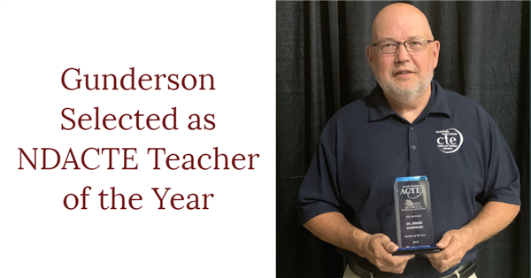 Gunderson Selected as NDACTE Teacher of the Year