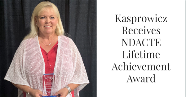 Kasprowicz Receives NDACTE Lifetime Achievement Award