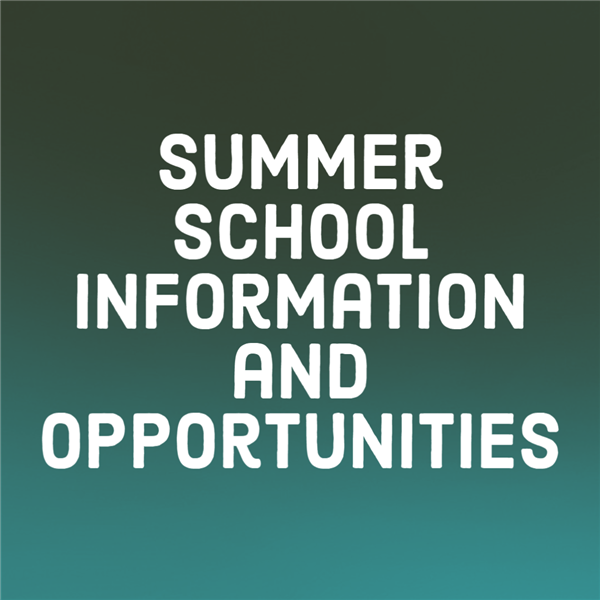 Summer School Information and Opportunities