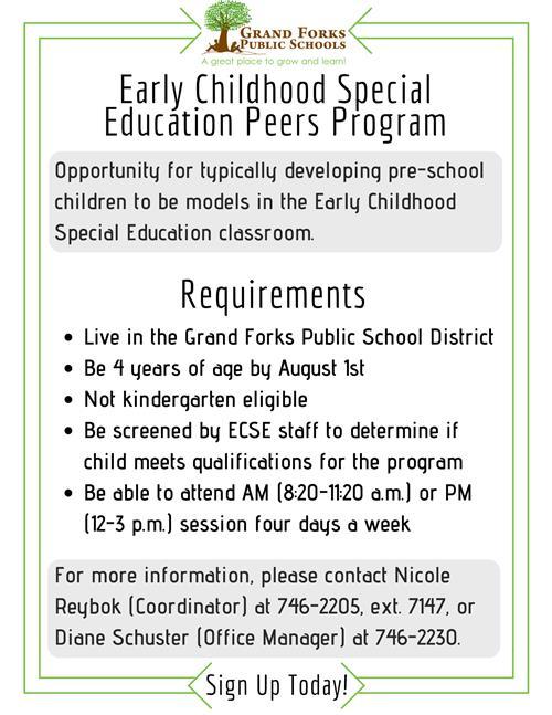 Special Education Early Childhood Peer Program
