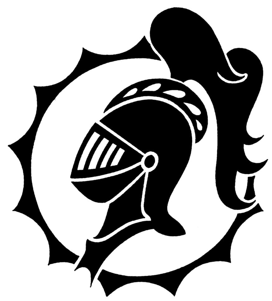 GFC Media Files & Logos / Large Knight Head BW Logo